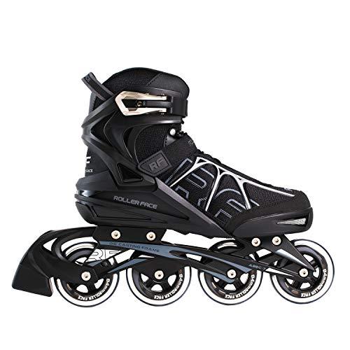 Rollerface Patines en Línea RFSport, color Negro, 25