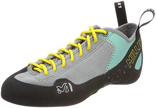 MILLET Zapatillas de Escalada LD Rock Up para Mujer, Talla única, Multicolor Metal Grey Pool Blue 000, 7 Narrow