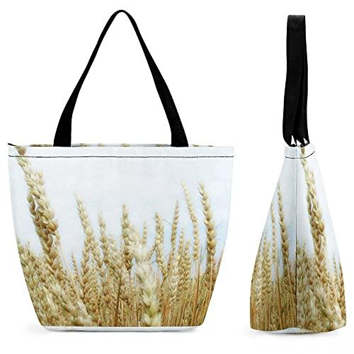 yanfind Bolsa de la compra de marca de solicitudes fuera reutilizable cereal de grano de Einkorn germen de trigo Planta de Rye Grass Emmer Familia bolso multiusos