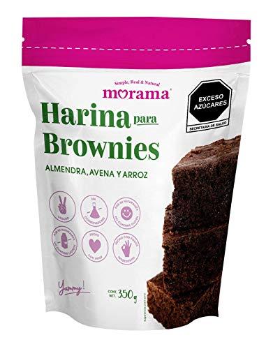 Morama, Harina para Brownies Hecha con Harina de Almendra, Avena y Arroz, Sin Conservadores y Vegano, Ideal para un Postre Saludable, 350 gramos