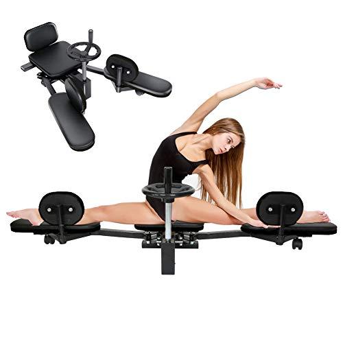 Keneke Máquina de estiramiento de pierna de 200 libras para entrenamiento de estiramiento de pierna resistente para pantorrilla, muslo, máquina de estiramiento de gimnasio equipo de fitness máquinas de prensa para uso doméstico (negro)