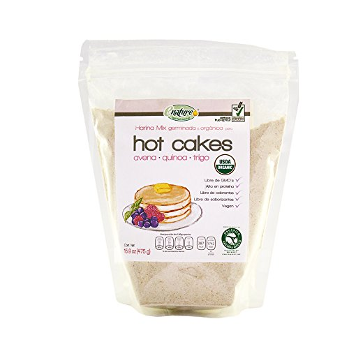 Enature Harina Hot Cakes con Avena, Quinoa, Trigo , 475 g