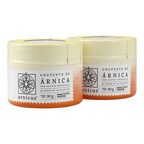 ARNICUS® ungüento/pomada de árnica potencializada con aceites esenciales de menta, mejorana, lavanda, clavo, romero. 90 gramos. 2 Pack
