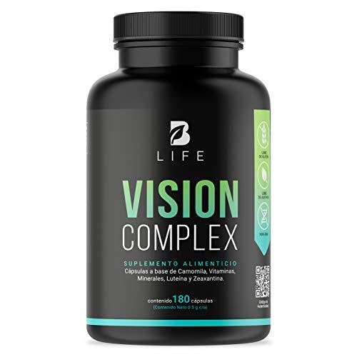 Suplemento para la Visión de 180 Cápsulas con Luteina y Zeaxantina. B Life Vision Complex para la vista.