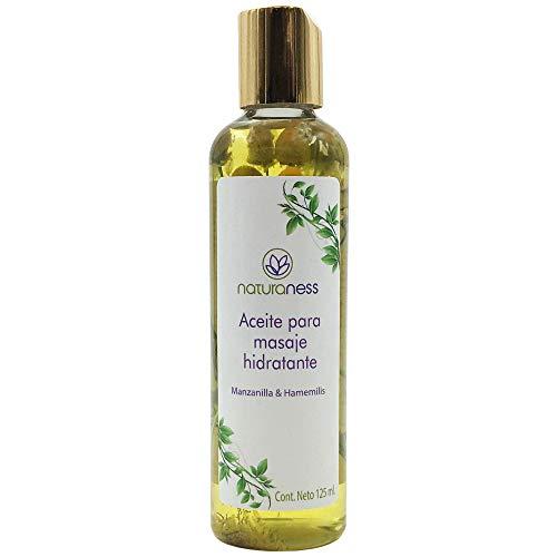 Naturalness Aceite para masaje corporal hidratante base de extractos herbales 100% naturales de manzanilla y hamamelis , Aroma Manzanilla