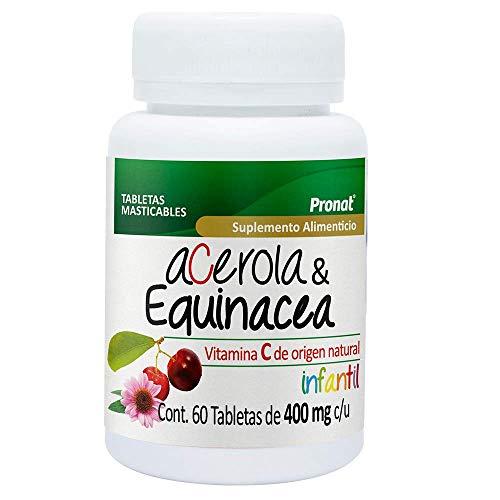 Acerola & Equinacea infantil -400 mg- 60 tabletas