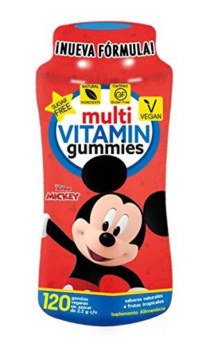 Mickey Multi-Vitaminas y Minerales Gummies   Sin Azúcar   Veganas   Ingredientes 100% Naturales   Gluten Free   120 Gomitas