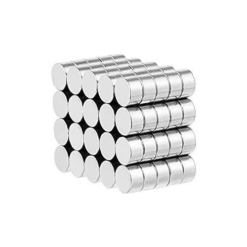 VILLCASE 100 Piezas Imanes de Nevera Imanes Redondos de Borrado en Seco Redondos Multifuncionales Pegatina de Refrigerador para Pizarra de Refrigerador para El Hogar
