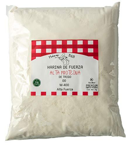 Harina De Fuerza 00 Alta Proteina 14g Kosher Premium Especial Blanca de Trigo 3Kg