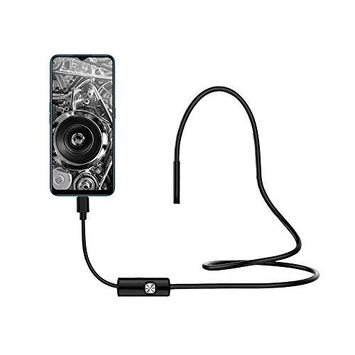 Redlemon Cámara Endoscopio de 1m Micro USB-OTG con Luz LED, Resistente al Agua, Compatible con Android y Windows, Boroscopio de Inspección Digital para Celular, Portátil y Flexible