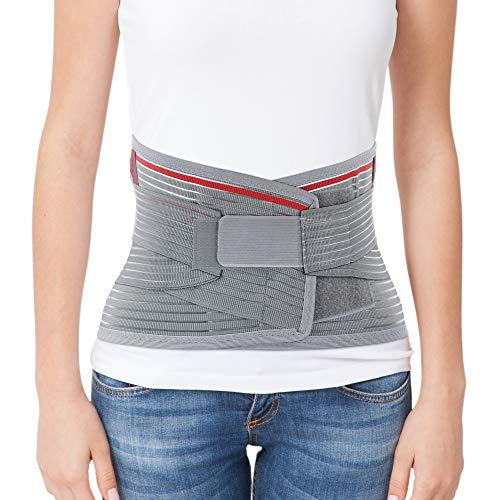 ORTONYX Lumbar Support Belt Lumbosacral Back Brace – Ergonomic Design and Breathable Material - L/XXL (Waist 39.7