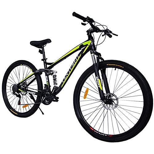 CENTURFIT Bicicleta Aluminio R29 21 Velocidades Amarilla Shimano Bicicleta Aluminio Montaña Rodada 29 Bicicletas Montaña 29 Aluminio Bici Montaña r29 Color Amarillo