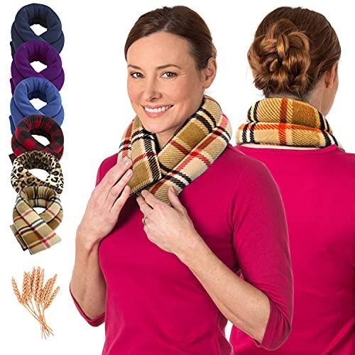 Sunny Bay - Cojín térmico para el cuello para aliviar el dolor de cuello, microondas, terapia fría y caliente, hombro extra largo, alivio del dolor de espalda (Londres)