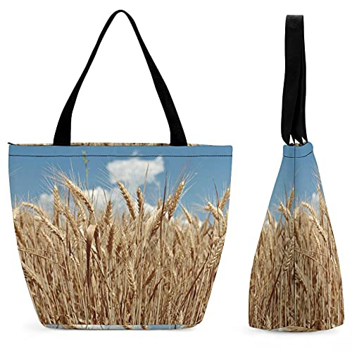 yanfind Bolsa de compras para señoras Campo del cereal agricolture plantas resorte grano de malta de centeno Dinkel germen de trigo Khorasan.