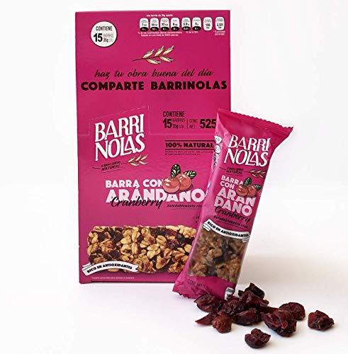 15 Pack Barras nutritivas de avena con Arándano 100% natural