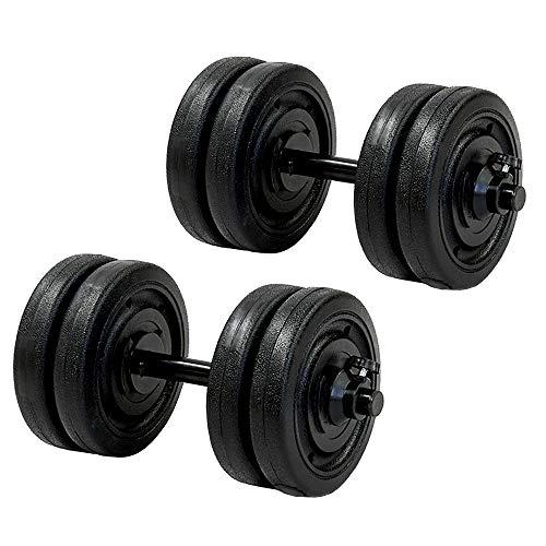 Energym - Par De Mancuernas De 10 Kg C/U - Negro (Incluye 8 Discos de 2.5 kg)