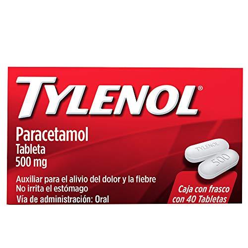 Tylenol Analgésico Tylenol 40 Tabletas 500 Mg, color, 40 count, pack of/paquete de