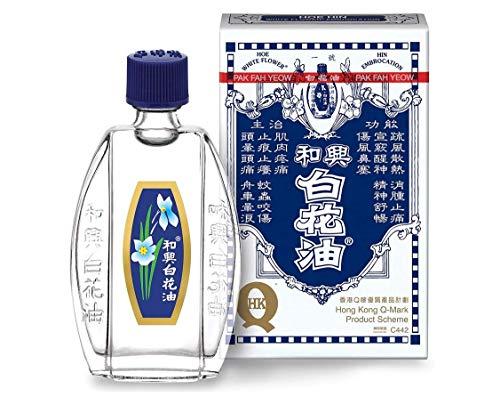 Beauty Secret 911 - Aceite medicinal analgésico para embrocación de flores blancas (Hoe Hin Pak Fah Yeow) (20 ml/paquete de 1)