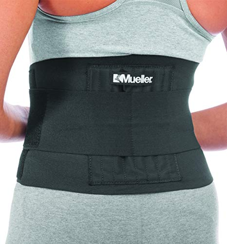 Mueller - Soporte de espalda ajustable, color negro, talla única