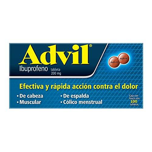 Advil Analgésico 200 mg Dolores Leves Caja con Frasco con 100 tabletas