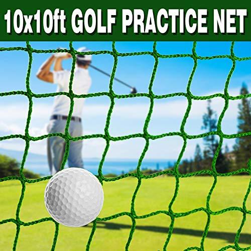 Ediors Red de práctica de golf de 3 x 3 m, para pelota de golf, béisbol, softbol, red de seguridad, red de alto impacto, red de bateo para exteriores, patio trasero, garaje interior (verde)