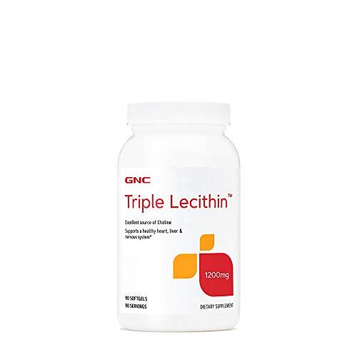 GNC Triple Lecithin 1200 mg, 180 cápsulas