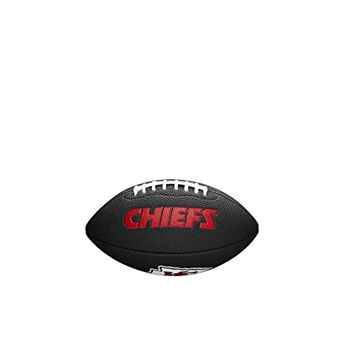 Wilson Sporting Goods NFL Kansas City Chiefs Team - Balón de fútbol, Color Negro, tamaño Mini