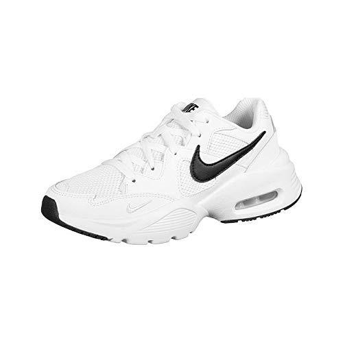 Nike Zapatillas Sneaker para Mujer, Blanco (White/Black), 25.5 cm