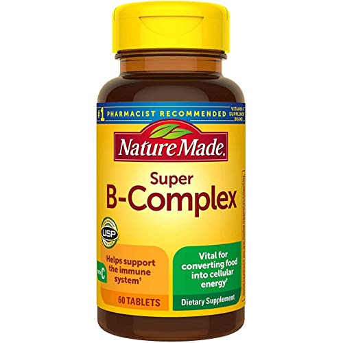 Nature Made Super B-Complex with Vitamin C and Folic Acid, 60 Tablets