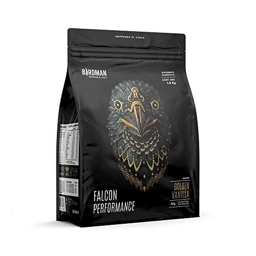 Birdman Falcon Performance Proteina Premium En Polvo, 30gr proteina, 3gr Creatina, 50 Porciones Sabor Golden Vanilla 1.9Kg