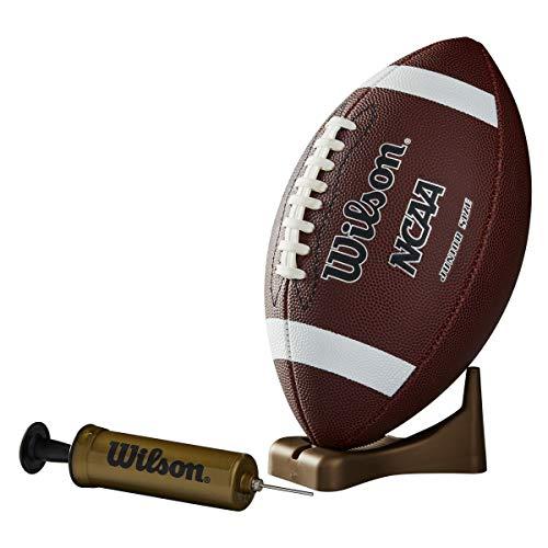 Wilson NCAA Supreme con inflador y tee (Júnior) - Balón de fútbol Americano