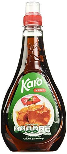 Karo Maple Jarabe de Maíz, Sabor Maple, 500 ml