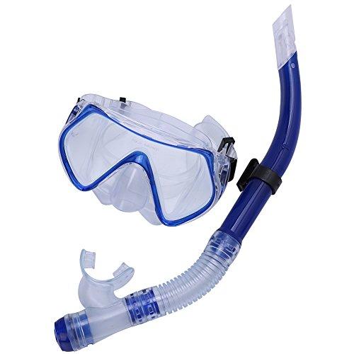 Anteojos De NatacióN, Gafas De Buceo para Adultos Snorkeling Swimming Scuba Underwater Swimming Glasses Snorkel(Azul)