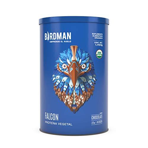 Birdman Falcon Protein Proteina Vegetal USDA Organica En Polvo (Vegana), 22gr proteina, 39 Porciones Sabor Chocolate 1.170kg
