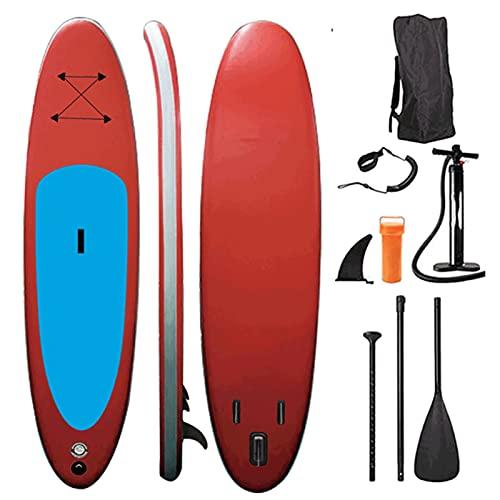 Tablas hinchables Surf de Remo, Tabla De Paddle Surf Hinchable Tabla De Remo Inflable Surfboard Pie hacia Arriba Paddleboard Sup Kayak para Adultos-320 * 80 * 15 cm