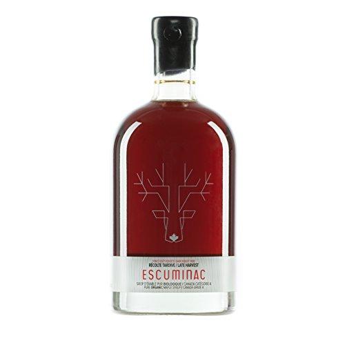 Jarabe de arce de Escuminac, de grado orgánico puro canadiense, perfecto para panqueques, postres y bebidas 500 mL (16.9 oz)