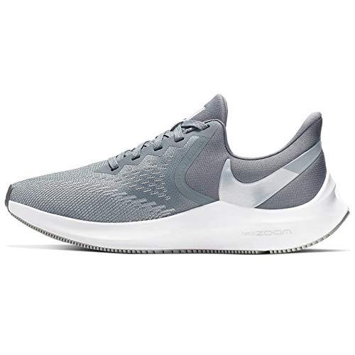 Nike Zoom Winflo 6-AQ8228-002 Tenis para Correr para Mujer, Color Cool Grey/Metallic Platinum-Wolf Grey-White, 8