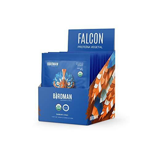 Birdman Birdman Falcon Protein Proteina Vegetal USDA Organica En Polvo (Vegana), 22gr proteina, Sabor Chai 12 Pack 30gr c/uProtein Proteina Vegetal USDA Organica En Polvo (Vegana), 22gr proteina, Sin inflamacion, Sin acne, Sabor Chai 12 Pack 30gr c/u
