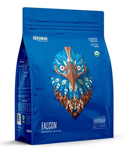 Birdman Falcon Protein Proteina Vegetal USDA Organica En Polvo (Vegana), 22gr proteina, 60 Porciones Sabor Chocolate 1.8kg