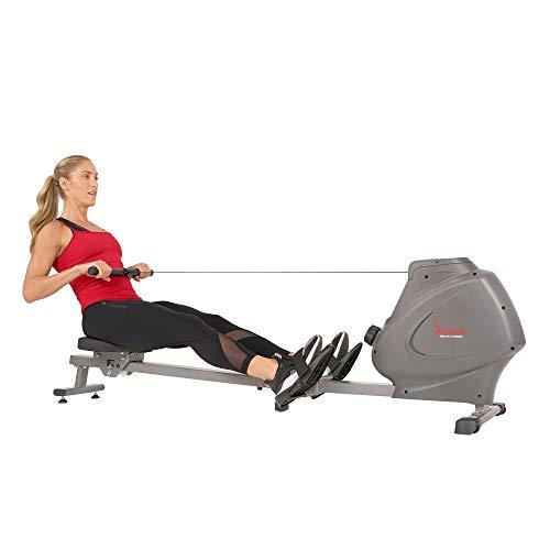 Sunny Health & Fitness Máquina de Remo Magnética c/Monitor LCD y Portabotella SPM -SF-RW5801