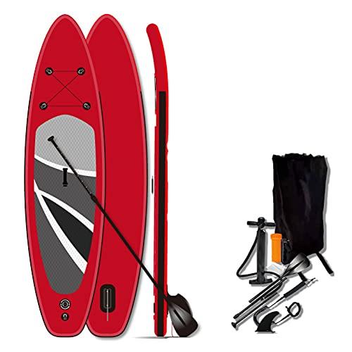 Tablas de Paddle Surf hinchables: Tabla de Paddle Surf con Mochila de Paddle Ajustable, Correa de Bomba, Aleta-320X80X15cm
