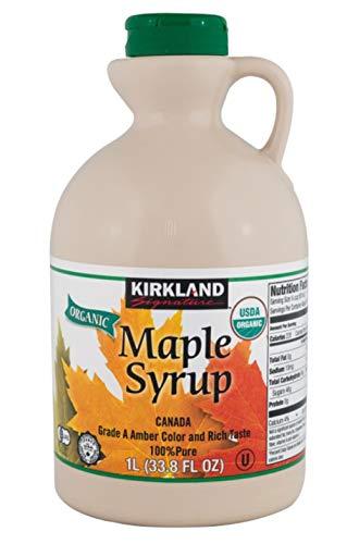 Jarabe de Maple 1 litro - Grado A Ambar 100% Puro Orgánico de Canadá
