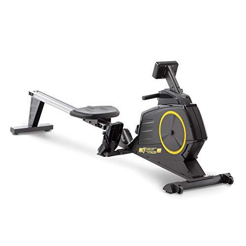 Circuit Fitness Deluxe, Máquina de remo magnético plegable con 8 ajustes de resistencia y ruedas de transporte AMZ-986RW
