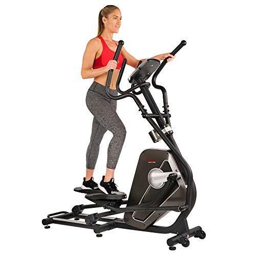 Sunny Health & Fitness Máquina Entrenador Elíptica Elíptico Magnético con Monitor LCD y Monitorización del Ritmo Cardíaco - Circuit Zone - SF-E3862