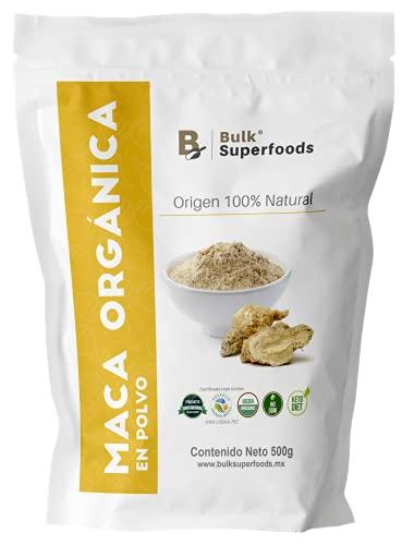 Maca Orgánica | Maca en Polvo Amarilla | Maca Peruana 100% Natural Orgánico BULK Superfoods | Organic Maca Powder | Yellow Pure Maca | Healthy Food | 500g