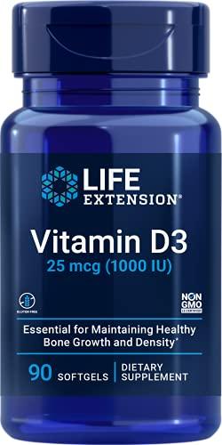 Life Extension Vitamin D3 1000 IU, 90 softgels
