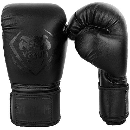 Venum Contender - Guantes de Boxeo, Negro/Negro, 16-Oz