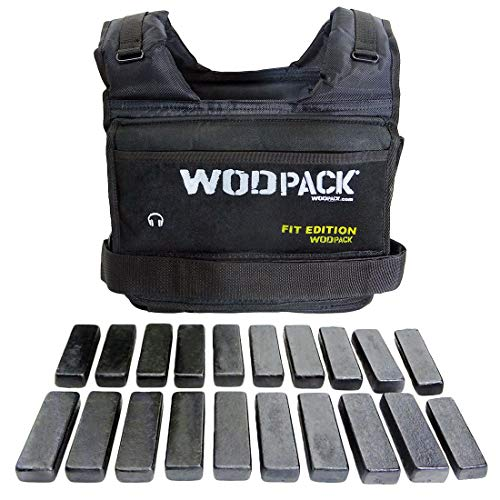 Chaleco de Peso 22 Kilos para Crossfit Inc. Placas de Metal WodPack