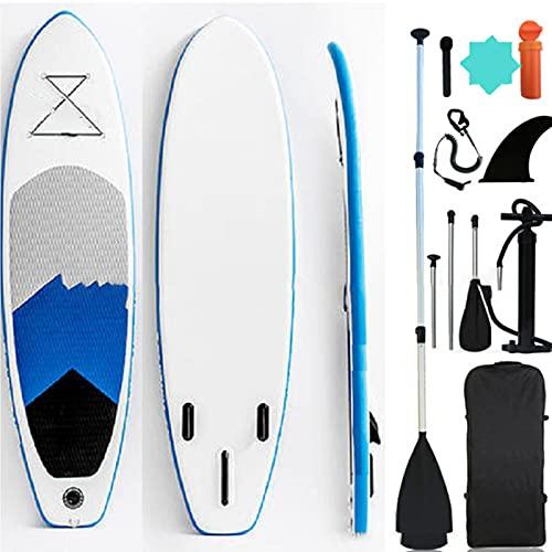 Tabla de Paddle Surf Hinchable, Stand up Paddle Board para Todos Los Niveles de Habilidad, Bomba de Mano-320 * 76 * 15 CM