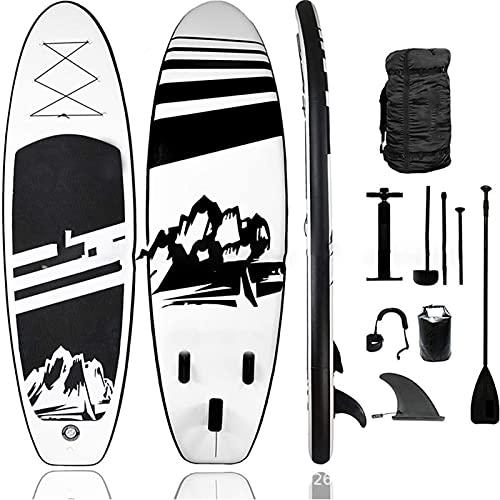 Tabla Paddle Surf Hinchable Stand Up Paddling Board Set con Surf de Remo de Aluminio Ajustable Bomba de Aire Mochila de Transporte y Kit de Reparación-320*84*15CM